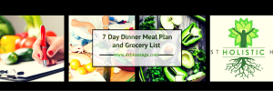 7 Day Dinner Meal Plan Header