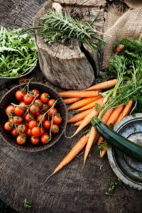 Fresh organic vegetables. Food background. Healthy food from garden