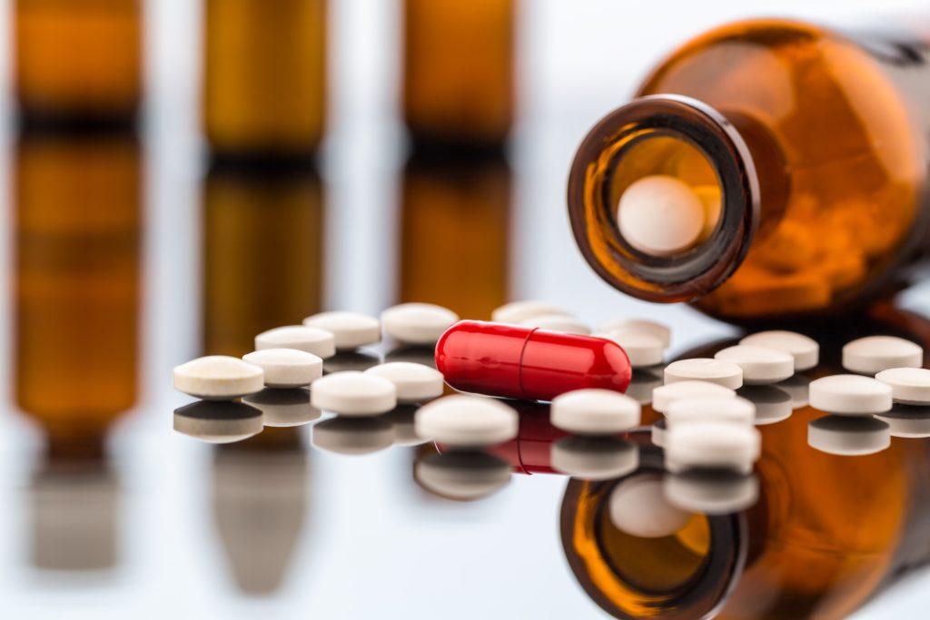 Bottle of prescription drugs - Ultimate Guide to Gut Health