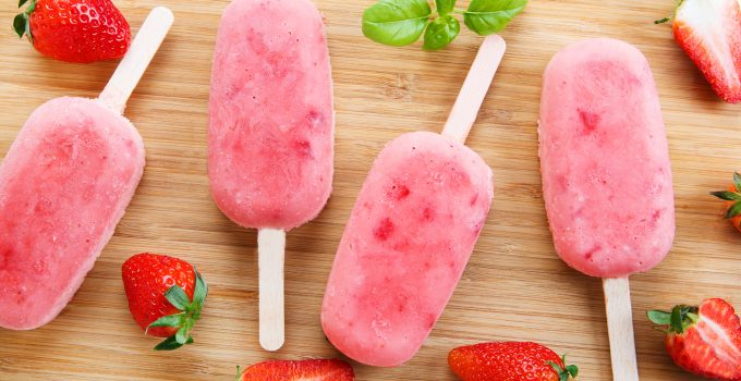 Homemade rhubarb and strawberry ice cream pops with fresh berries. - 4 Anti-Inflammatory Rhubarb Recipes